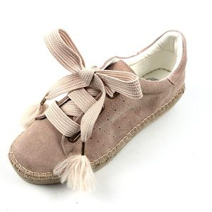 Vince Camuto Womens Pink Suede Espadrille Sneakers Size 7